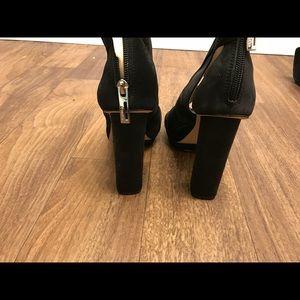 Calvin Klein Shoes - Calvin Klein Desiree Peep Toe Mesh Bootie Platform